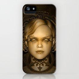 Steampunk female machine iPhone Case