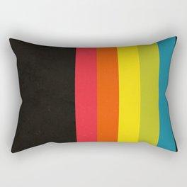 Retro Camera Color Palette Rectangular Pillow