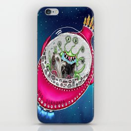 Chinese Crested Hairless Dogs in Space  iPhone Skin