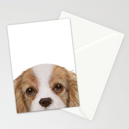 Cavalier King Charles Spaniel Dog illustration original painting print Stationery Cards