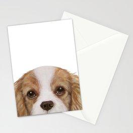 Cavalier King Charles Spaniel Dog illustration original painting print Stationery Cards