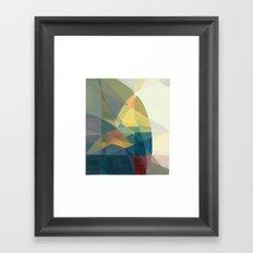 Color Geometry Framed Art Print