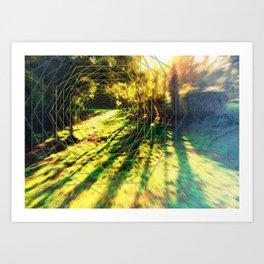Trippy Backyard Escape Portal Art Print