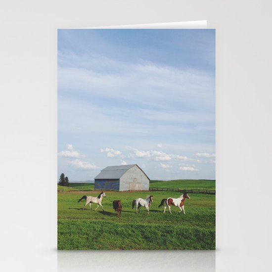 Farm Horses Stationery Cards