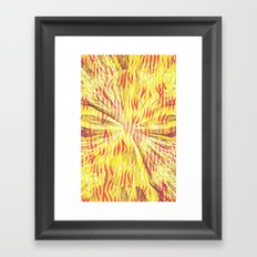 Ripped Framed Art Print