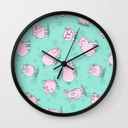 Little Piggies, patterns of pigs, l just love pigs! Wall Clock