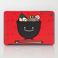 ramen iPad Cases featuring Happy Ramen Bowl by Berenice Limon