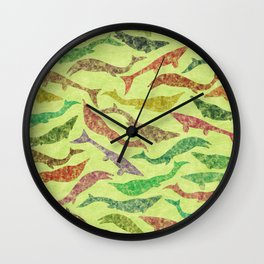 Extinct Marine Lizard II (Plotosaurus, Globidens, Platecarpus, Tylosaurus) Wall Clock