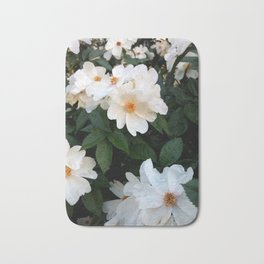 White wild roses Bath Mat