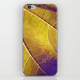 Leaf in Purple and Yellow iPhone Skin