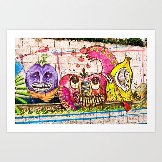 Onion Heads Art Print