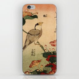 Hokusai,Hawfinch and mirabilis - manga, japan,hokusai,japanese,北斎,ミュージシャン iPhone Skin