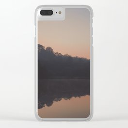 deep hayes sunrise reflection Clear iPhone Case