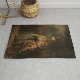 Rembrandt - Separation of David and Jonathan Rug