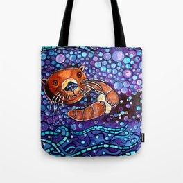 Otter bubble bath Tote Bag