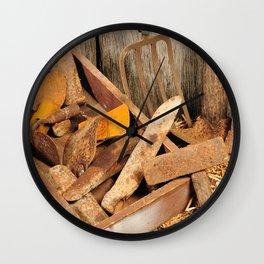 Rusted tools Wall Clock