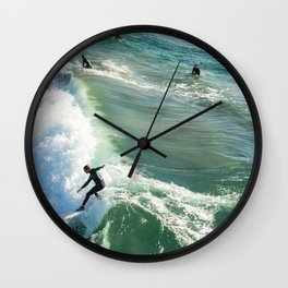 Surfers Wall Clock