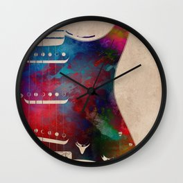 guitar art 2 Wall Clock