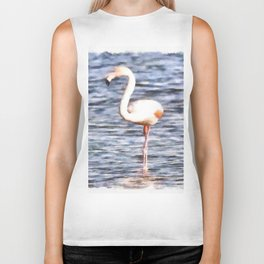 Just Like A Flamingo Biker Tank