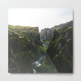 Iceland Green Nature Metal Print