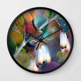 Floral abstract(48). Wall Clock