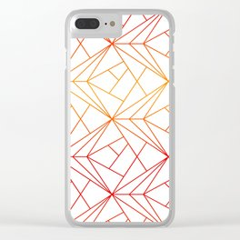 rays of lines Clear iPhone Case