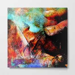 La Barca ( collaboration with the talented artist design Ganech Joe) Metal Print