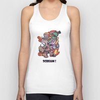 scream Tank Tops featuring Scream by Michalis Rodosthenous