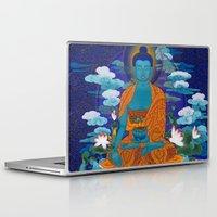 medicine Laptop & iPad Skins featuring Medicine Buddha by Kalsang Dawa