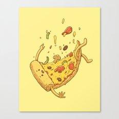 Pizza fall Canvas Print