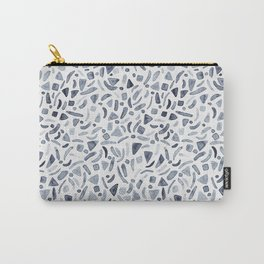 Grey Watercolour Terrazzo Carry-All Pouch