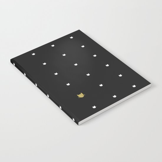 One Golden Cat  Notebook