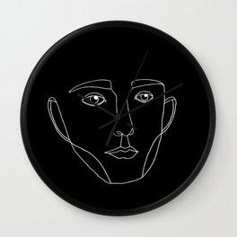Visage noir & blanc Wall Clock