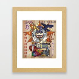 What manner of trickery is this? Framed Art Print
