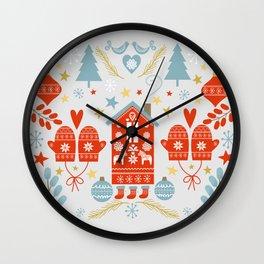Laplander Winter Holiday Wall Clock