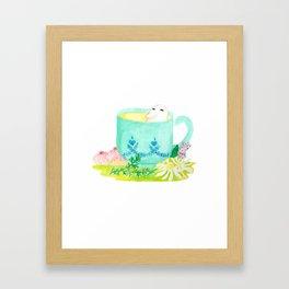 A Bean in Tea Framed Art Print