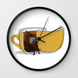 Coffee Confidential Wall Clock