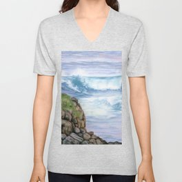 Cliff By The Sea Unisex V-Neck