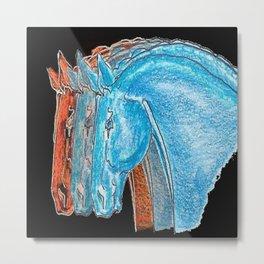 """Three Horses"" Metal Print"