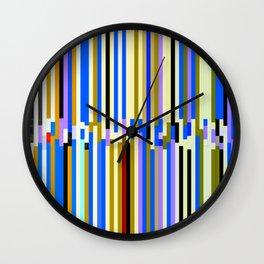 Pinstripe Mayhem Wall Clock