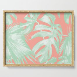 Island Love Coral Pink + Light Green Serving Tray