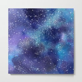 Abstract Galaxy Space Paint Pattern Texture #8 Metal Print