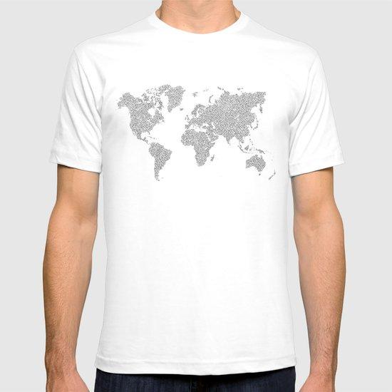 World Map Circuit Motif  T-shirt