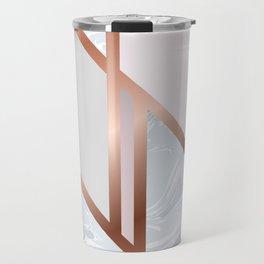 White Pastel Art Deco Travel Mug