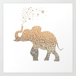 GOLD ELEPHANT Art Print