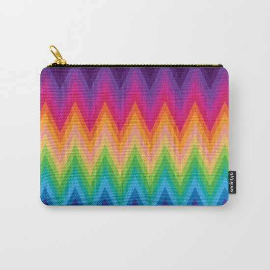 Zig Zag Chevron Pattern G291 Carry-All Pouch