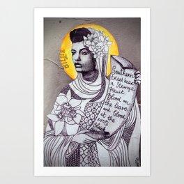 Saint Billie Holiday Art Print