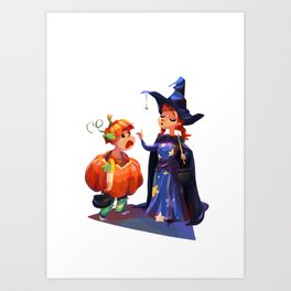 Halloween costumes Art Print