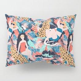 Tropical Girls with Cheetah Pillow Sham