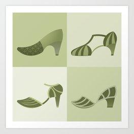 Green Shoes Art Print